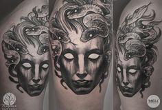 Medusa Head, Tattoo Photos, Blackwork, Portrait, Tattoos, Chasing Pavements, Style, Magick, Swag