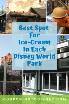 Looking for Ice Cream during your Disney Vacation? Here are the Best Spots For Ice-Cream In Each Disney World Park Disney World Food, Disney World Magic Kingdom, Disney World Parks, Disney World Planning, Disneyland World, Walt Disney World Vacations, Disney World Hollywood Studios, Disney Tickets, Disney Dining Plan