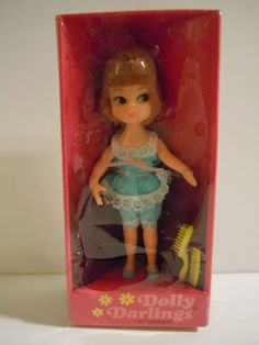 "RARE:Vintage 1966  Hasbro Dolly Darlings ""Slumber Party""# 8512 Mint In Box #Hasbro #DollswithClothingAccessories"