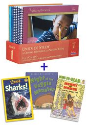 "© 5/15/2013. Units of Study in Opinion, Information, and Narrative Writing, Grade 1 with Trade Book Pack: A Common Core Workshop Curriculum, by Lucy Calkins, Colleagues from The Teachers College Reading and Writing Project – Heinemann Publishing.  ""This sequence of CCSS-aligned units in narrative, opinion and information writing bears the stamp of both the Common Core and of thirty-five years of research and development.""— Lucy Calkins"