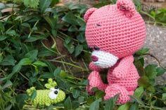 Amigurumi - Free Crochet Pattern - Teddy Bear, häkeln - Pina - Bär - Kuscheltier, Haken, gratis patroon (Engels+Duits), amigurumi, beer, knuffel, speelgoed, #haakpatroon,