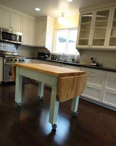 Decoration Kitchen - Portable Kitchen Islands - They Make Reconfiguration Easy And Fun Moveable Kitchen Island, Drop Leaf Kitchen Island, Mobile Kitchen Island, Rolling Kitchen Island, Farmhouse Kitchen Island, Kitchen Island Decor, Kitchen Island With Seating, Kitchen Islands, Small Portable Kitchen Island