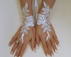 Ivory gold or ivory silver frame wedding gloves bridal gloves lace gloves fingerless gloves ivory gloves bridal accessories party prom Ivory Wedding, Wedding Bride, Lace Gloves, Fingerless Gloves, Wedding Gloves, Formal Dresses For Weddings, Hand Jewelry, Jewellery, Wedding Frames