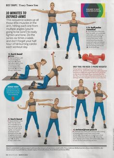 "Arm exercises from Tracy Anderson. Still do not agree with her ""no weight larger than 3 lbs"" rules but I like her workouts.  www.brooklynfitchick.com"