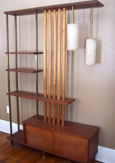 LOVE the multiple uses - shelving, lamps, divider... lol