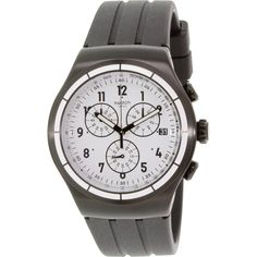 Swatch Men's Irony YOB403 Black Rubber Swiss Quartz Watch