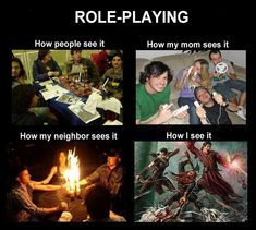 What people thinks Role-Player do.