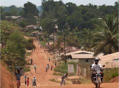 LIBERIA: In Ganta, just beyond the paved road. Liberia Africa, Paises Da Africa, People Around The World, Travel Around The World, Around The Worlds, Monrovia Liberia, West African Countries, Star View, Grand Chef