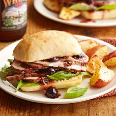 Recipes for slow cooker sandwiches are everywhere, but these gourmet sandwiches go full-on fall thanks to balsamic vinegar, basil, and lots of spice. Berries add some sweetness and color, and ciabatta holds this slow cooker meal together.