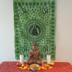 Altar cloths can be used in your favourite seasonal ceremonies or as more permanent use in the home. Great for wall hangings, divination readings or table cloths! The term Buddha means enlightened one or knower. To be considered a Buddha one must reach Altar Cloth, Human Condition, Wall Hangings, Buddhism, Cloths, Meditation, Symbols, India, Seasons