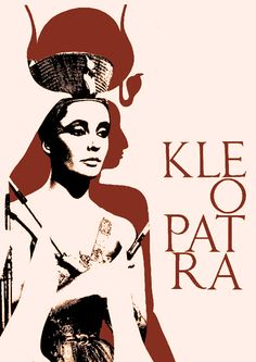 Cleopatra, Elizabeth Taylor, Polish Film Poster