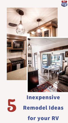 Major upgrades don't have to mean major expenses (or headaches)! There are some changes you can make to your RV that will make a big impact on your RV's style, but not on your wallet! Rv Interior, Glamping, Light Colors, Walls, Change, Lights, Dark, Big, Painting