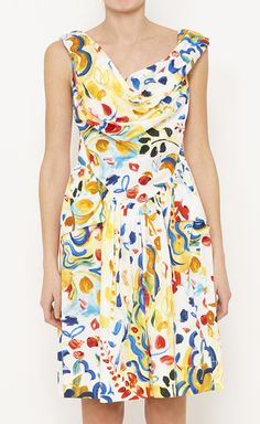 Vivienne Westwood Anglomania White, Blue And Multicolor Dress | VAUNTE