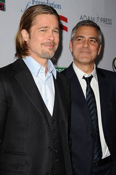 Twice as nice! Best buds Brad Pitt and George Clooney are the hottest pair in Hollywood.