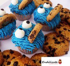 monstruo galletas cupcakes