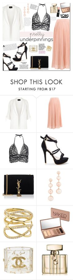 """Yoins #19"" by mery90 ❤ liked on Polyvore featuring River Island, Yves Saint Laurent, Rebecca Minkoff, Lana, Urban Decay, Chanel, Gucci, Smashbox, yoins and yoinscollection"