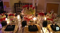 DECO Productions, Inc. I Barcardi Awards; Black & White with a touch of gold and red accents