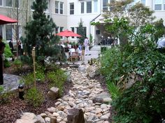 Flagstone to Maintain the Beauty of Pathway Structure: Mesmerizing River Rocks Landscaping Design ~ enferd.com Flooring and Fireplace Inspiration