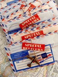 Vintage Par Avion Via Air Mail Mixed Lot by reginasstudio on Etsy Could be cute party favours