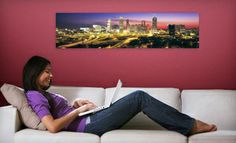"""Groupon - C$ 35 for a 48""""x12"""" Panoramic Wall Mural from Larger Than Life Prints (US$86 Value) in Online Deal. Groupon deal price: $35"""