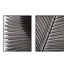 image of Madison Park™ Palm Fronds Deco Box Photo Print in Black