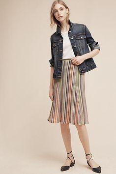 Maeve Spectral Stripe Skirt