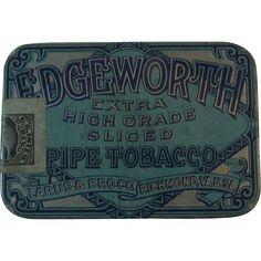 Edgeworth Pipe Tobacco Tin Extra High Grade Sliced Larus & Bro Richmond, VA, Litho