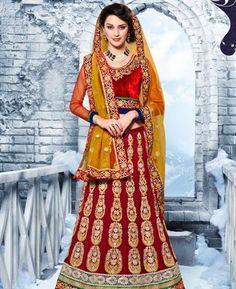 Buy Dazzling Diva Crimson Lehenga Choli online at $132.38 [ADF30111]
