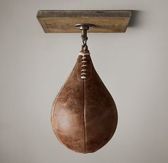 Something everyone should have on hand at home. ;) VINTAGE LEATHER SPEED BAG