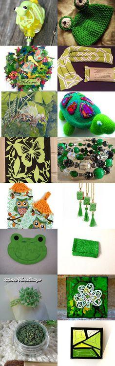 Spring Greens! by Belinda Hawkins on Etsy--Pinned+with+TreasuryPin.com
