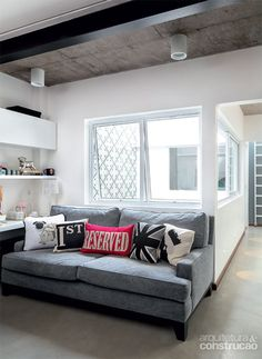 Casa de vila FC / DT Estudio #homeoffice #living #decor