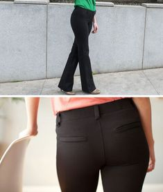 Dress Pant Yoga Pants: Quite simply the comfiest pants you'll ever wear to work. - They are not cheap, but they are SOOOO worth it. My favorite pants for any time (work or play) - love love love! Dress Yoga Pants, Yoga Pants For Work, Comfy Pants, Business Attire, Skinny, Work Attire, New Wardrobe, Work Fashion, Look Cool
