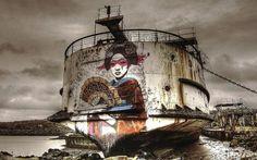 Black Duke of Lancaster Ship Graffiti Ship Vs Fin DAC