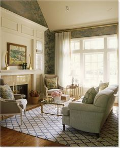 Hang curtains close to the ceiling, rather than right at the top of the window, to make the ceilings in your apartment appear taller.