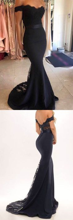 Black off the shoulder mermaid long prom dress evening dress homecoming dress Formal dresses long evening dresses 2019 gorgeus wedding party prom dresses Mermaid Prom Dresses, Prom Party Dresses, Formal Evening Dresses, Ball Dresses, Dress Party, Prom Gowns, Dresses Dresses, Cotton Dresses, Long Gowns