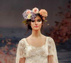 Flower Headdress Floral Headdress, Bridal Headdress, Claire Pettibone, Head Pieces, Head Accessories, Fashion Updates, Love Flowers, Flower Crown, Crowns