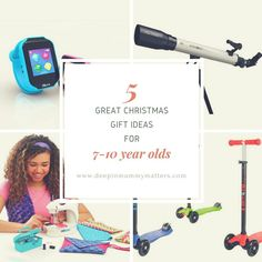 Over on the blog today I've got a few great gift ideas for 7-10 year olds. (Link in bio) #giftsforgirls #giftsforboys #christmasgiftguide #microscooter #kuriowatch #telescope #kidssewingmachine