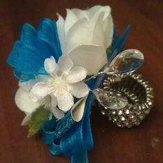 Ring corsage I made for homecoming! occas flower, special occas, prom corsag, ring corsag