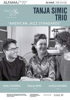 """""""Duetos da Sé"""", #restaurante #café #bar, #Alfama, #Lisboa, #Lisbon #Portugal -  TERÇA-FEIRA 6 DE MARÇO 2018 – 21H30 - #CONCERTO """"ALFAMA #JAZZ"""" - TANJA SIMIC TRIO - """"AMERICAN JAZZ STANDARDS"""" - Tanja Simic (voz), Vasco Amores (piano) & Marc Ramírez (contrabaixo) - Tanja Simic Trio é um Trio de Jazz baseado em Lisboa composto pelos sons vocais aveludados de Tanja Simic, o jogo expressivo do pianista Vasco Amores e o incansável groove do baixista Marc Ramírez...."""