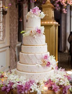 7 Tier Wedding Cake By Pink Cake Box - Photo By Images By Berit - (pinkcakebox)