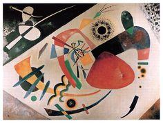 Kandinsky. Red spot II. 1921