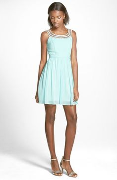 a.+drea+Beaded+Skater+Dress+available+at+#Nordstrom