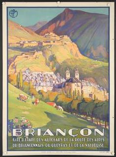 Briancon PLM, Geo Francois, 1920's French Travel poster
