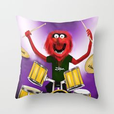 """Animal Drummer   Animal Drumer may be one of my favorite characters from """"The Muppets Show"""", because I am a drummer myself, but in fact, the real reason is that it is very funny. Therefore, I wanted to redraw it and make my own composition digitally in Photoshop."""