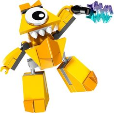 This cute guy Teslo is a LEGO Mixels set released in 2014.