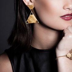 Triangle Earrings by Mei-Li Rose