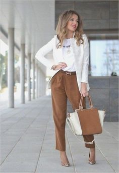 Business Casual Work Clothes for Women 2020 Summer Work Outfits, Casual Work Outfits, Business Casual Outfits, Casual Fall Outfits, Work Casual, Business Clothes, Casual Chic, Elegantes Outfit Frau, Outfit Trends