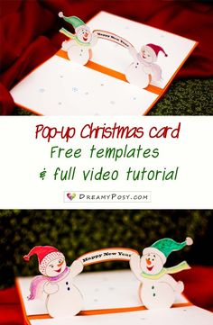 free christmas cards - New Year Pop Up Christmas Cards, Christmas Card Display, Christmas Card Template, Printable Christmas Cards, Holiday Greeting Cards, Christmas Greetings, Christmas Diy, Kids Cards, Cards Diy