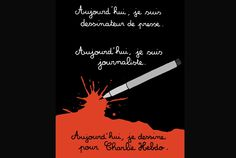 """Charlie Hebdo"" : l'hommage des dessinateurs - Le Point -- ""Today I'm not a press cartoonist.  Today I'm a journalist.  Today I'm drawing for Charlie Hebdo."" by Martin Vidberg (France)"