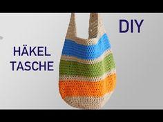 Tolle Häkeltasche   Anleitung für Anfänger / Tasche häkeln - YouTube